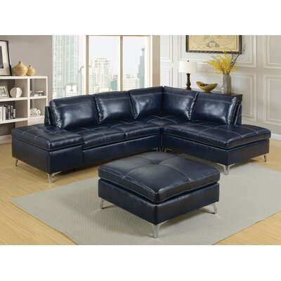 Tisdale Contemporary Sectional with Ottoman