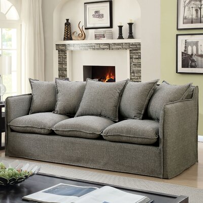 Kamanda Transitional Sofa Upholstery: Gray
