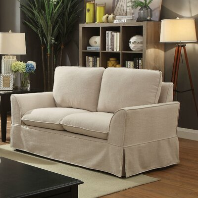 Fanelli Transitional Loveseat Upholstery: Beige