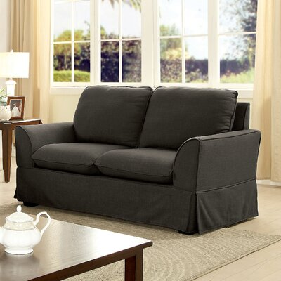 Fanelli Transitional Loveseat Upholstery: Gray