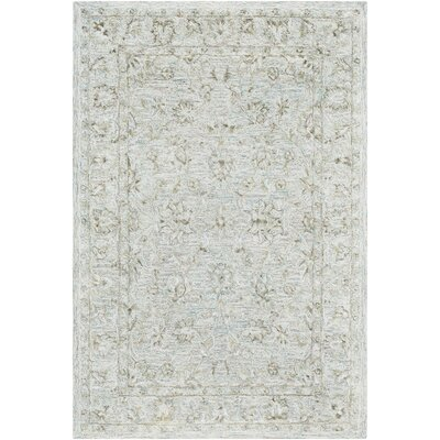 Jambi Traditional Hand-Tufted Wool Cream Area Rug Rug Size: Rectangle 7 x 9