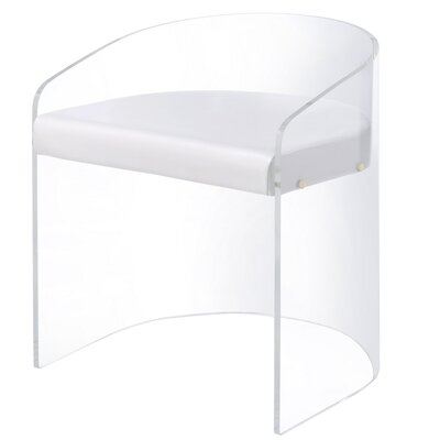 Citadel Acrylic U Shaped Barrel Chair