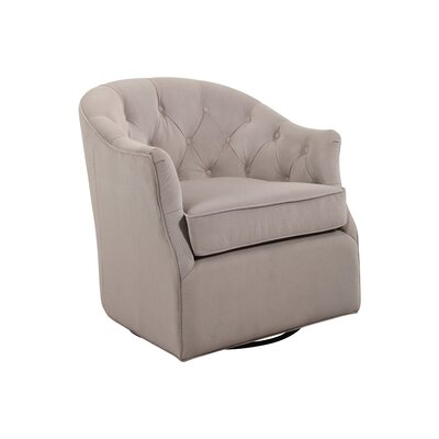 Guthridge Swivel Club Chair Upholstery: Dove Gray