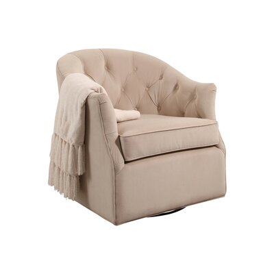 Guthridge Swivel Club Chair Upholstery: Sand