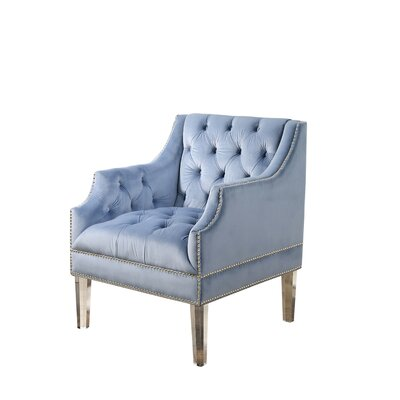 Ayana Tufted Armchair Upholstery: Light Blue