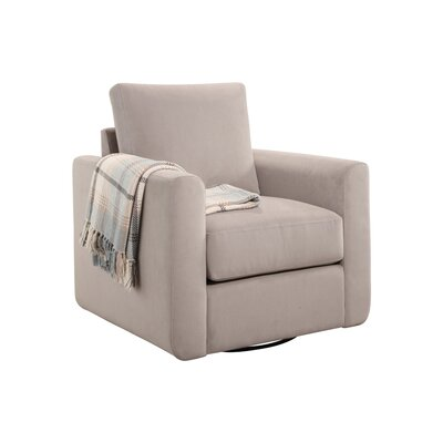 Feng Swivel Armchair Upholstery: Dove Gray