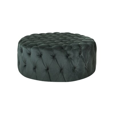 Botolph Cocktail Ottoman Upholstery: Emerald Green