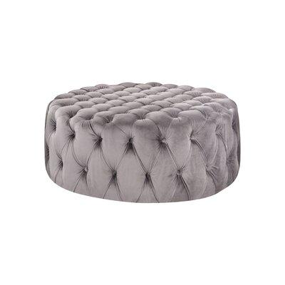 Botolph Tufted Velvet Ottoman Upholstery: Gray