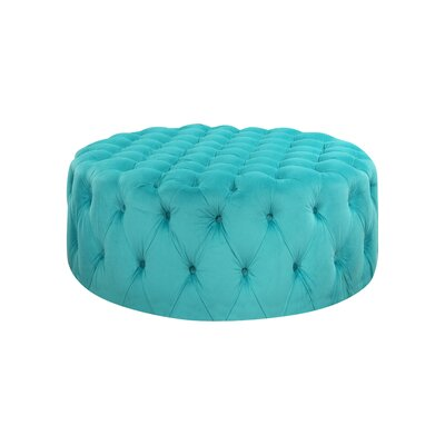 Botolph Cocktail Ottoman Upholstery: Turquoise