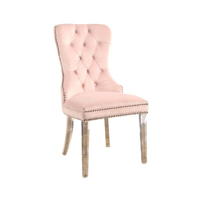 Braelyn Tufted Upholstered Dining Chair Upholstery: Blush Pink