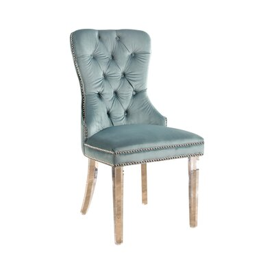 Braelyn Tufted Upholstered Dining Chair Upholstery: Seafoam Green