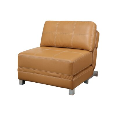Windle Convertible Futon Chair Color: Camel