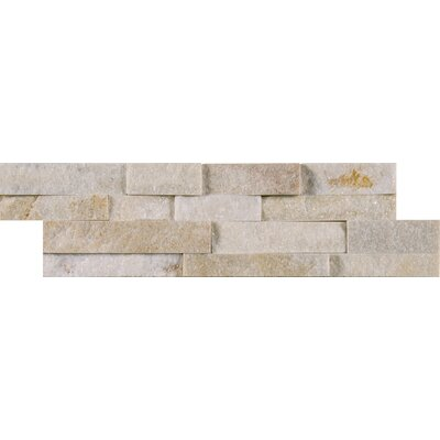 Arctic Golden Natural Stone Mosaic Tile in White