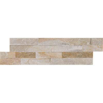 Golden Honey Natural Stone Mosaic Tile in White