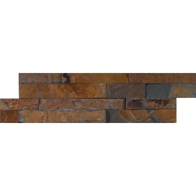 Gold Rush Mini Ledger Panel Natural Stone Splitface/Mosaic Tile in Brown