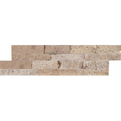 Roman Mini Ledger Panel Travertine Splitface/Mosaic Tile in Beige