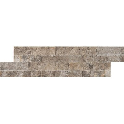M-series Ledger Travertine Mosaic Tile in Gray
