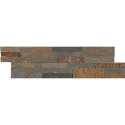 Gold Rush Veneer Peel and Stick Natural Slate MosaicTile in Gray
