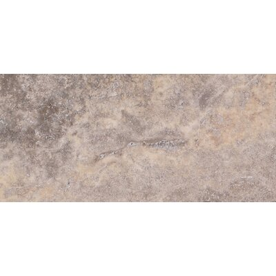 Honed 3 x 6 Travertine Subway Tile in Gray