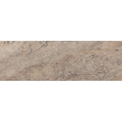 Honed 4 x 12 Travertine Subway Tile in Gray