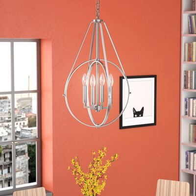 Cherry Hill 4-Light Geometric Pendant Finish: Brushed Nickel