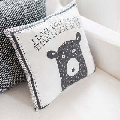 Little Bear 100% Cotton Throw Pillow