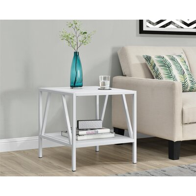 Avondale End Table Color: White