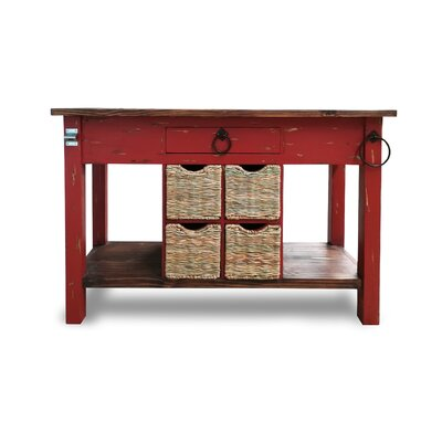 Bruno Kitchen Island Base Finish: Barn Red