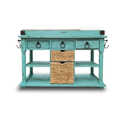 Brust Kitchen Island Base Finish: Turqouise