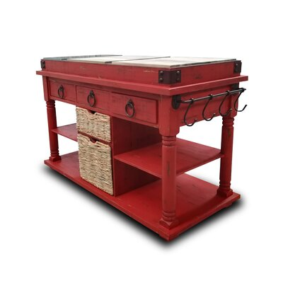 Brust Kitchen Island Base Finish: Barn Red