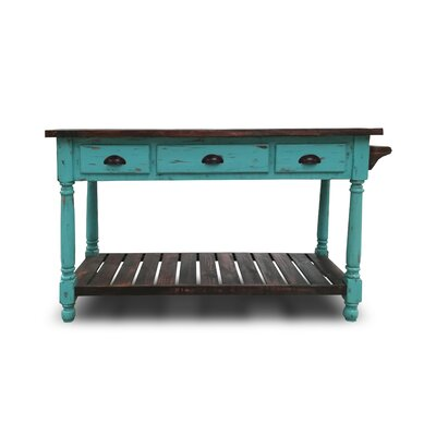 Bruss Kitchen Island Base Finish: Turquoise