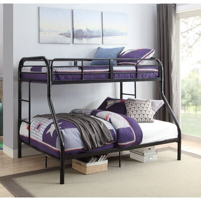 Hallum Twin Over Full Bunk Bed Bed Frame Color: Black