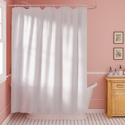 Mahomet 100% Cotton Shower Curtain Color: White, Size: 72 H x 72 W