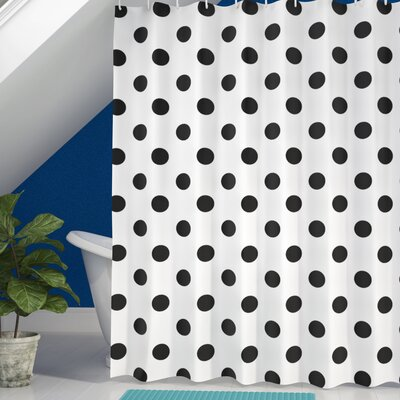 Baltzell Polka Dots Art Shower Curtain Size: 69 W x 75 L