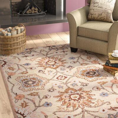 Karlie Hand-Tufted Wool Cream Area Rug Rug Size: Rectangle 9 x 12
