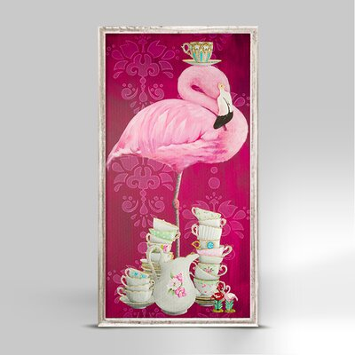 'Tea Time Flamingo' Graphic Art Print