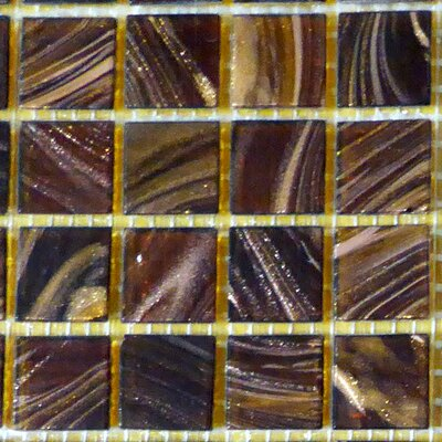 0.75 x 0.75 Glass Mosaic Tile in Brown/Beige