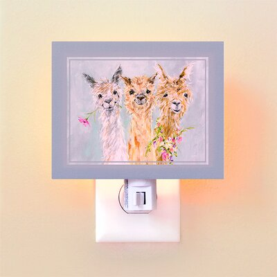 Sweet Alpacas by Susan Pepe Night Light