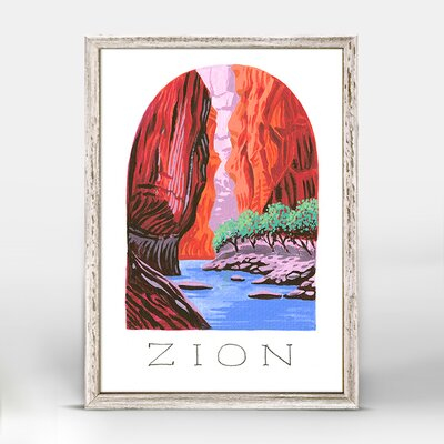 'National Parks - Zion' Acrylic Painting Print