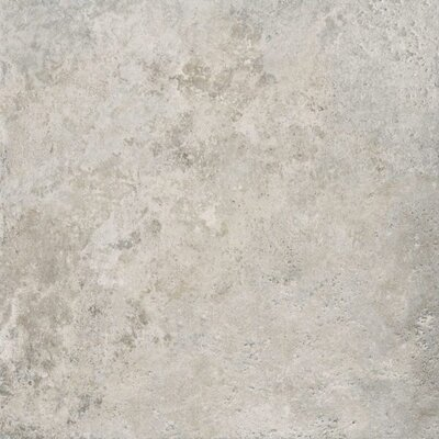 Roma Palatino Glazed 6 x 6 Porcelain Field Tile in Silver