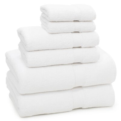 Toscano 6 Piece Towel Set Color: White
