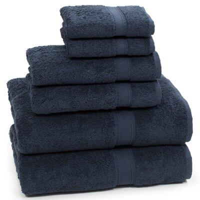 Toscano 6 Piece Towel Set Color: Navy