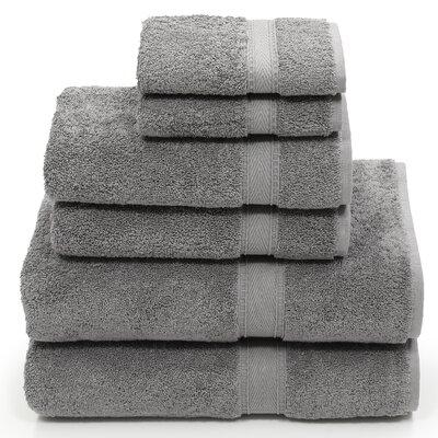 Toscano 6 Piece Towel Set Color: Dark Gray