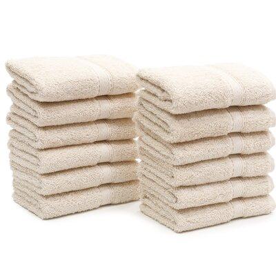 Toscano Washcloth Color: Beige