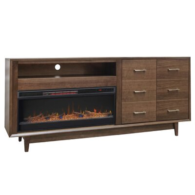 Pixley 84 TV Stand Electric Fireplace