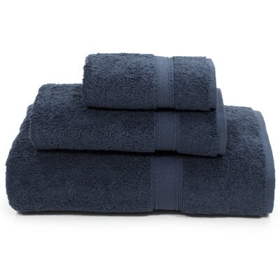 Toscano 3 Piece Towel Set Color: Navy