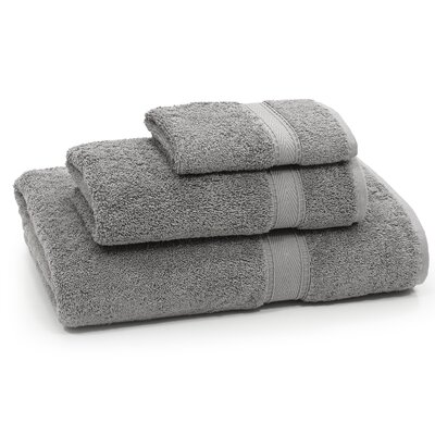 Toscano 3 Piece Towel Set Color: Dark Gray