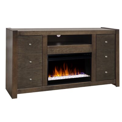 Pathan 62 TV Stand Electric Fireplace