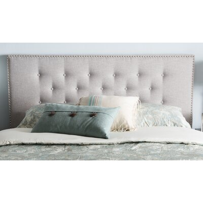 Planas Upholstered Panel Headboard Size: Full, Color: Beige