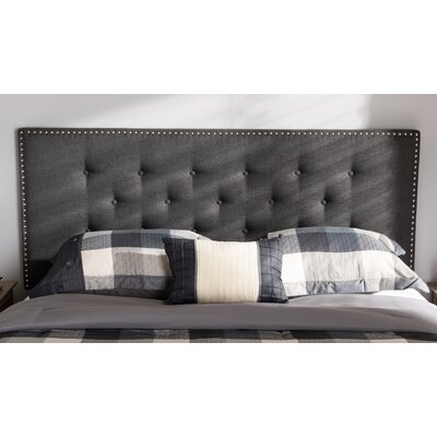 Planas Upholstered Panel Headboard Size: Full, Color: Black